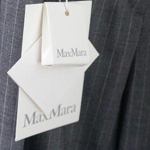 Max Mara Pants - MAX MARA Pinstriped woolblend bootcut trousers